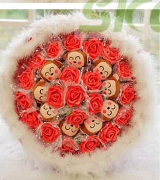 可爱小猴,十二生肖,鲜花礼品- 思可鲜花网